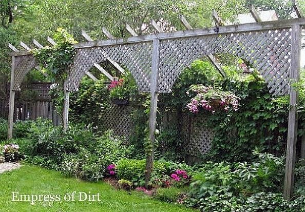 How to add privacy to your backyard popsugar home for Free standing fence diy