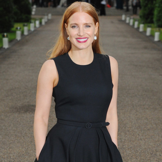 Jessica Chastain Talks About Charlie Hunnam July 2015