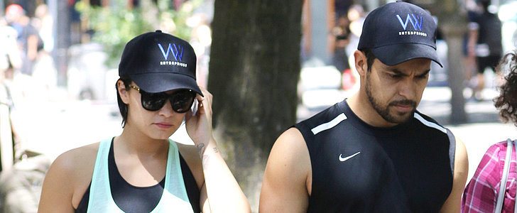 Cute Couple Demi Lovato and Wilmer Valderrama Take a Stroll With Her Pretty Pooch