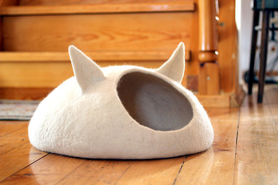 We just really love the cat caves ($109) with ears. They're beyond cute.