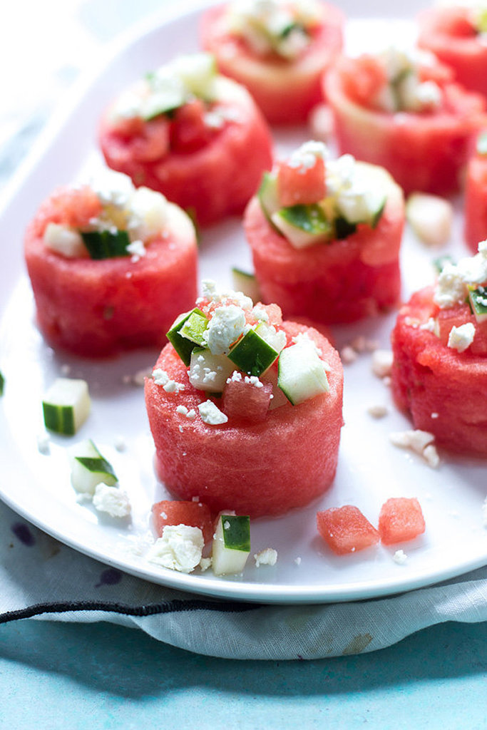 Watermelon, Cucumber, and Feta Salad Cups