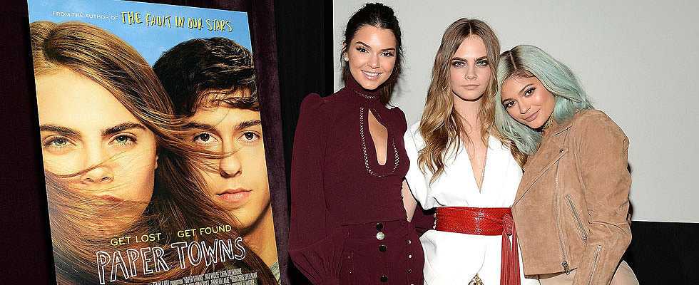 Cara Delevingne Shares Her Spotlight With Kendall and Kylie Jenner at the Paper Towns Screening