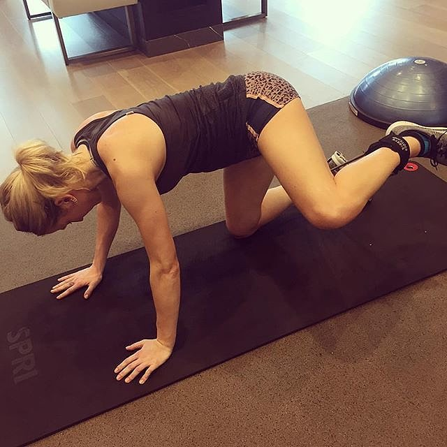 Ellie says that If you think high intensity workouts are the hardest, try a conditioning session — really slow moves are tough.  She actually cried.