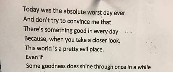 The Internet Is Freaking Out Over the True Meaning of This Poem