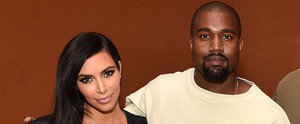Kim Kardashian's Baby Bump Is Front and Centre on Kanye West's Big Day