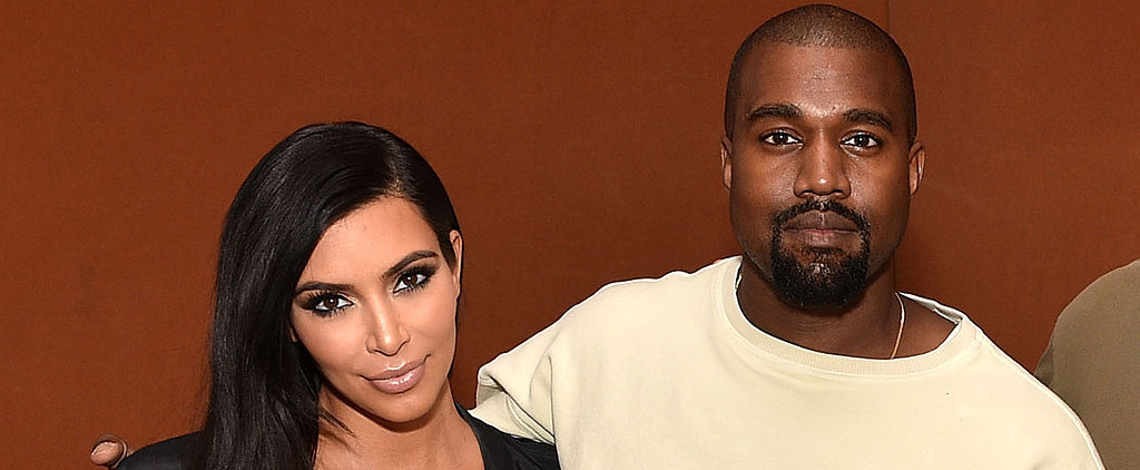Kim Kardashian's Baby Bump Is Front and Center on Kanye West's Big Day