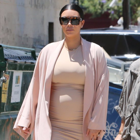 Kim Kardashian Takes Her Growing Baby Bump on a Family Outing