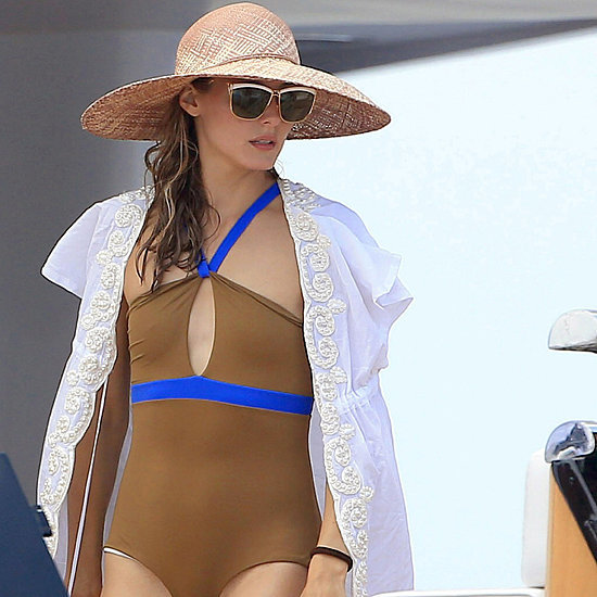 Olivia Palermo Swimsuit in Ibiza, Spain