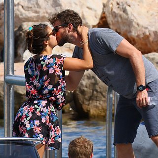 Nina Dobrev and Austin Stowell PDA in St.-Tropez Pictur
