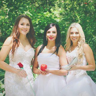 Disney Princess Best Friends Bridal Photo Shoot