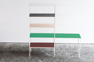 High/Low: Color-Blocked Bookcase