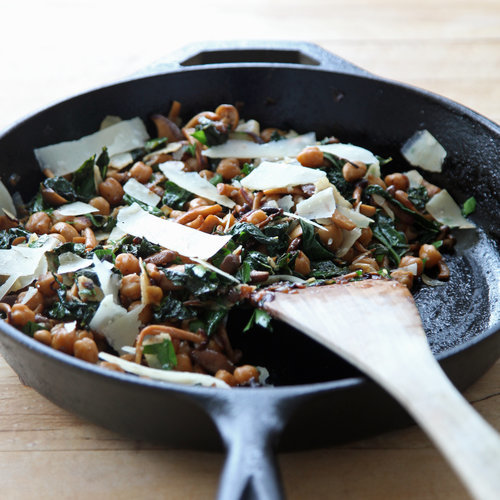 ... chickpeas and kale notes to save time slice the mushrooms and prep