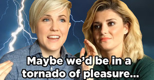 "Grace Helbig And Hannah Hart Play Superhero ""F#@K, Marry, Kill"""