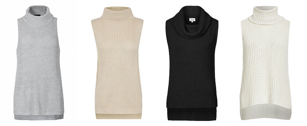 Shop Sleeveless Turtleneck Knits Under $100