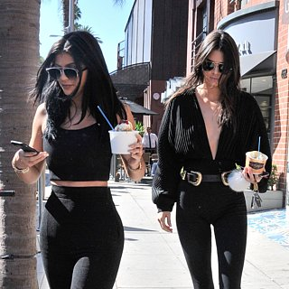 Kendall and Kylie Jenner's Black Outfits