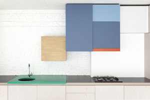 Kitchen of the Week: A Color-Blocked Kitchen in Belgium