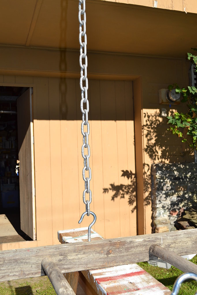 Make sure you get a strong enough chain. The hardware store can cut it to the length you need.