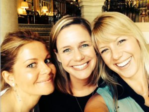 Candace Cameron Bure Shares Adorable Snap Of Kimmy, DJ And Stephanie On Set Of 'Fuller House'