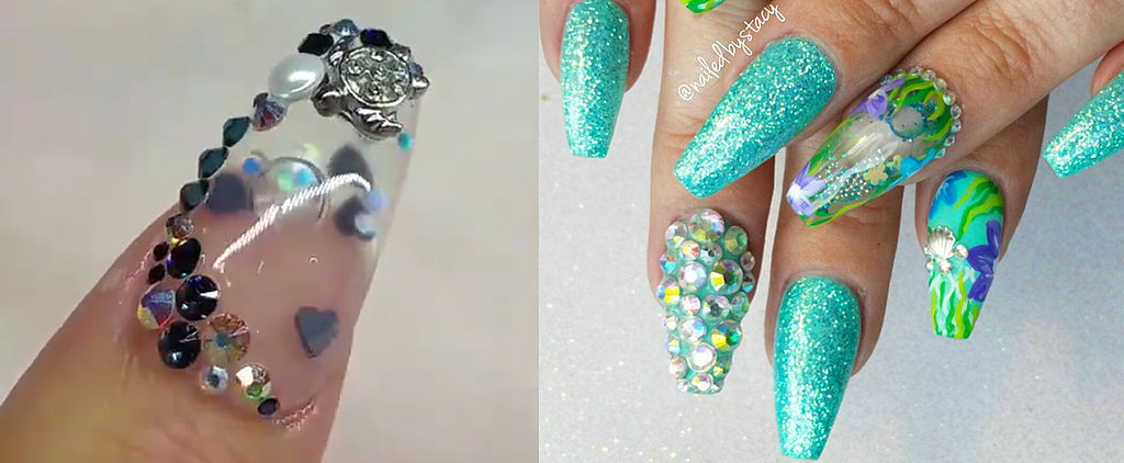 Rock a Tiny Aquarium on Your Tips With This Weird Nail Art Trend