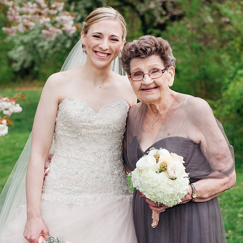 Grandma Serves as Granddaughter's Bridesmaid