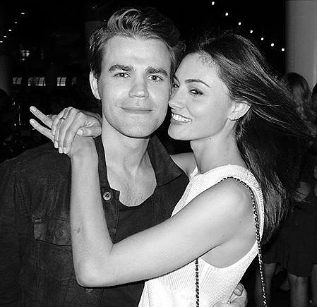 Cute Pictures of Phoebe Tonkin and Paul Wesley Together