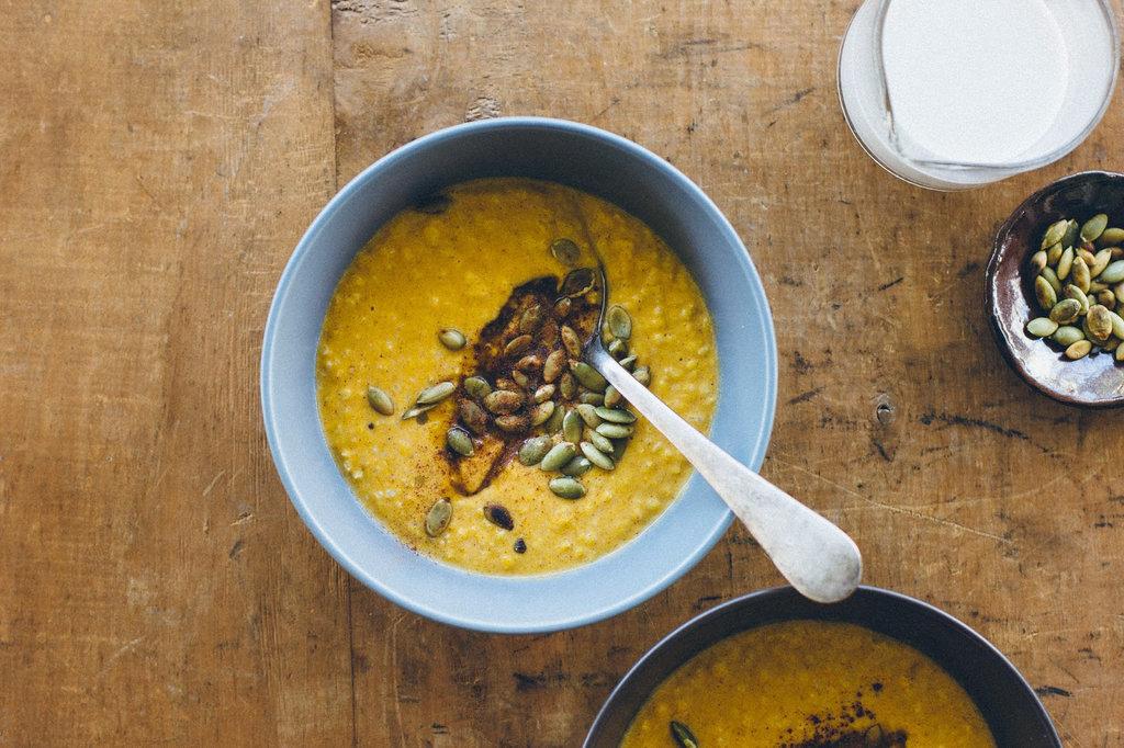Spiced Pumpkin Millet Porridge
