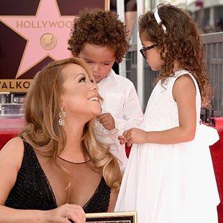 Mariah Carey's Twins at the Hollywood Walk of Fame