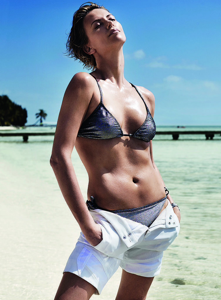 Charlize heated up the pages of Vogue in this bikini-clad June 2014 spread.