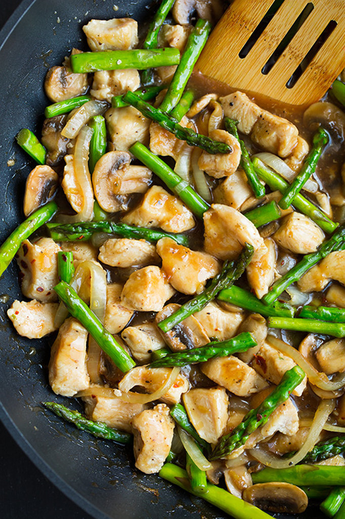 Get the recipe : ginger chicken stir-fry with asparagus [1]