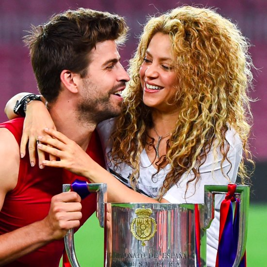 Gerard Pique Kicking Ball at Shakira