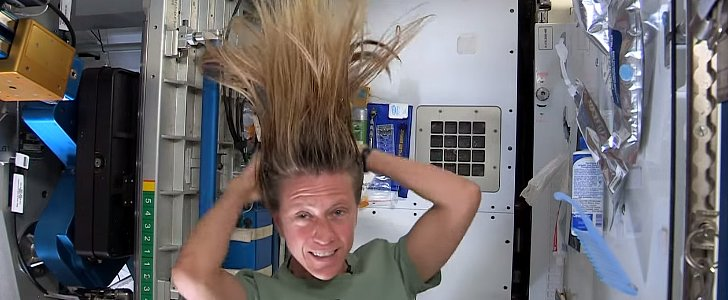 This Astronaut Washing Her Hair in Space Will Blow Your Mind