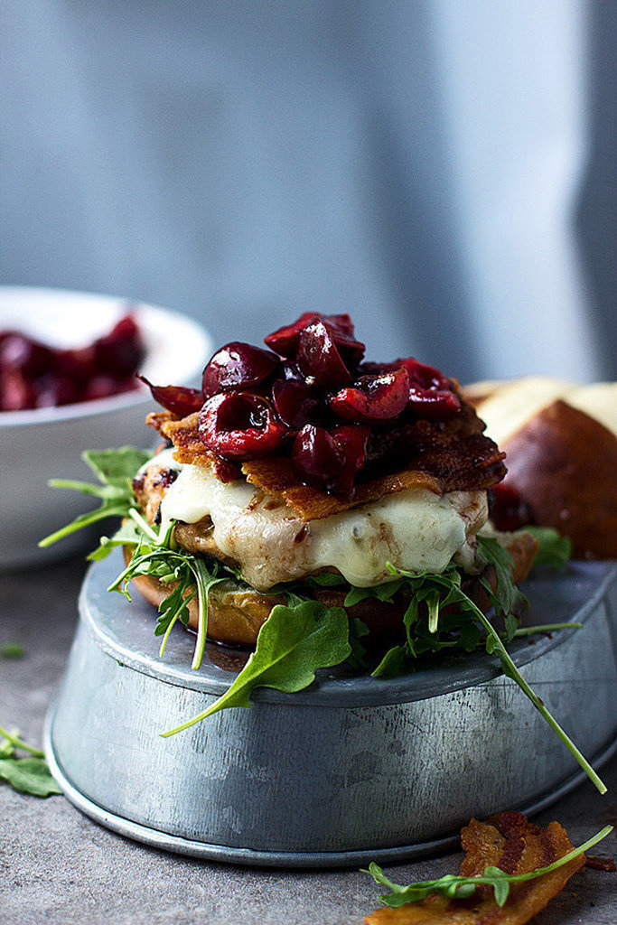 Turkey Burgers With Cherries and Bacon
