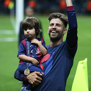 Shakira and Gerard Pique's Son Milan Lifts Trophy