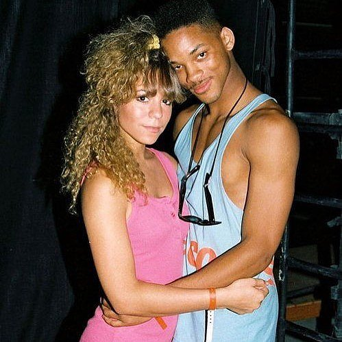 Mariah Carey and Will Smith Throwback Picture