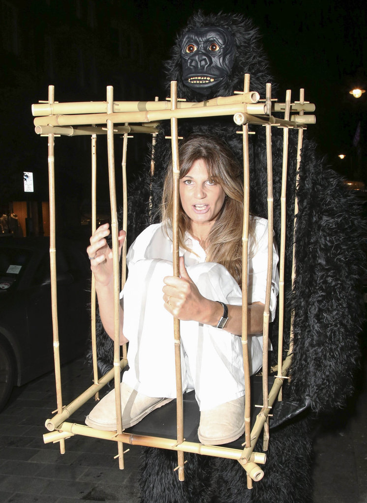 Jemima Kahn was both King Kong and Ann from the classic story at the UNICEF Halloween Ball in London in 2014.