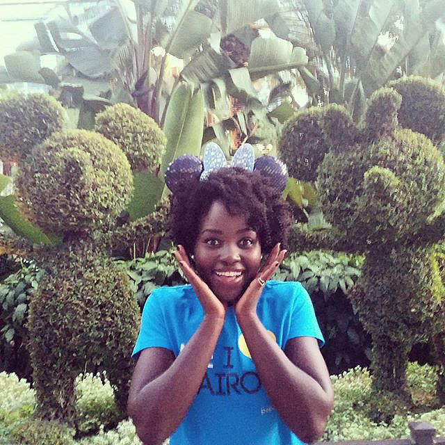 """In the midst of D23 Expo excitement, Lupita Nyong'o spent a day at Disneyland in August 2015. She wrote in the caption, """"First trip to #Disneyland!!! #myfirstears. Mummy, this is for you! #d23expo @disneystudios."""""""