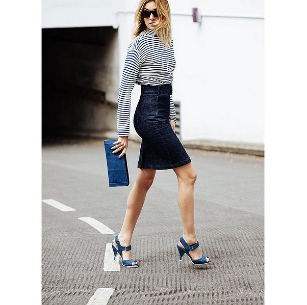 tight denim pencil skirts are your new best friend 23