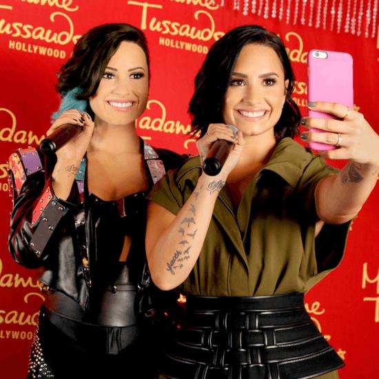 Demi Lovato Meets Her Wax Figure