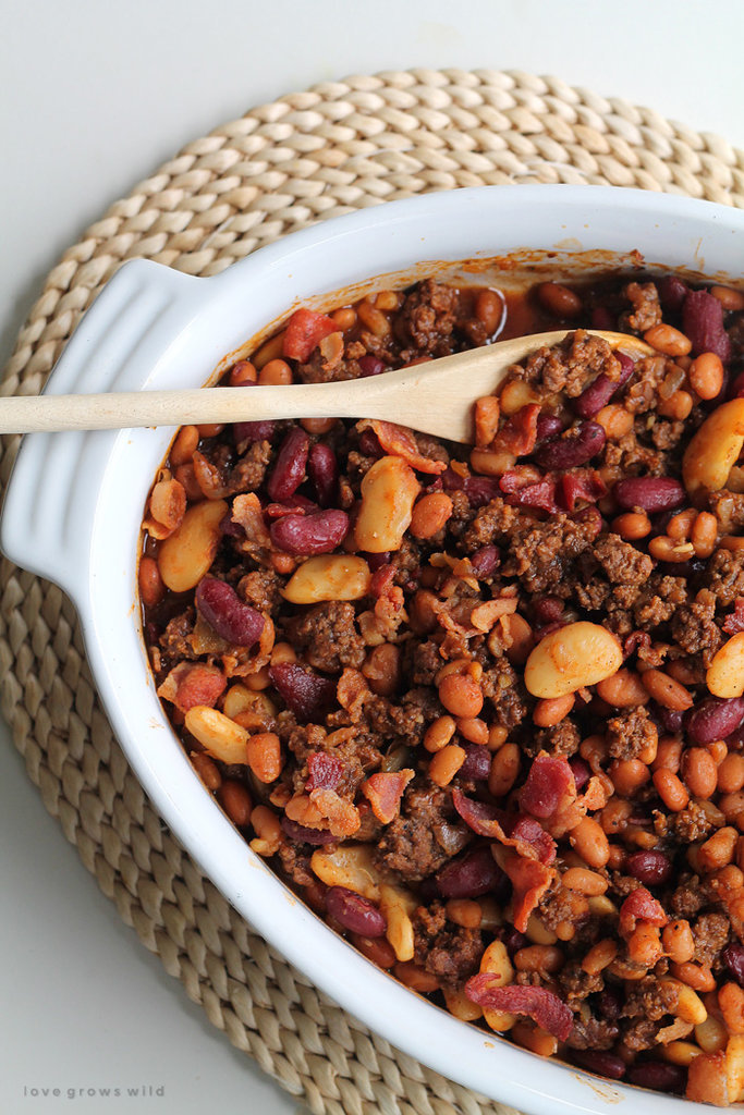 Beef and bacon baked beans 20 slow cooker side dishes for What can you cook with hamburger meat