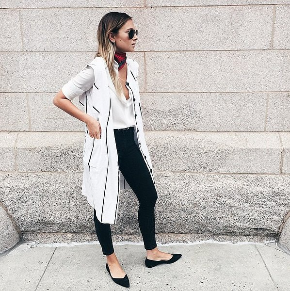 What To Wear With Black Flats Popsugar Fashion