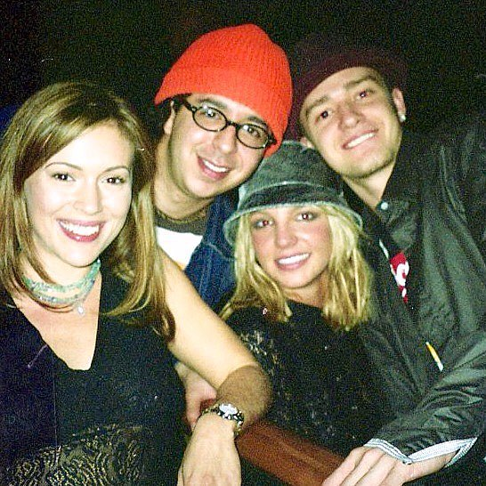Alyssa Milano Photo With Britney Spears Justin Timberlake