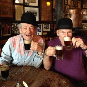 Patrick Stewart and Ian McKellen on Twitter