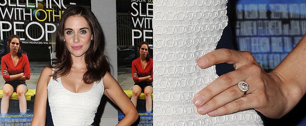 Alison Brie's Engagement Ring Looks Pretty Darn Fabulous From All Angles