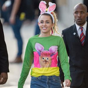 Miley Cyrus Wearing Nipple Pasties on Jimmy Kimmel