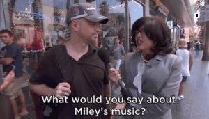 Miley Cyrus Dressed In Disguise To Ask Random People What They Think Of Her