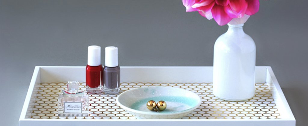 Show Off Your Favorite Beauty Pieces and Jewelry on This Luxe DIY Vanity Tray