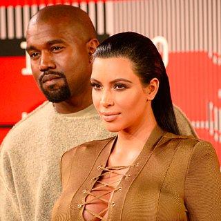 Kim Kardashian and Kanye West MTV VMAs Red Carpet 2015