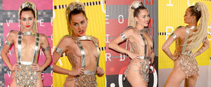 Considering She's Hosting the VMAs, Miley Cyrus' Outfit Is Suitably Bananas