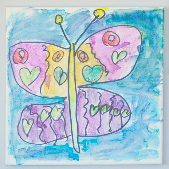 Watercolor Canvas Painting For Kids