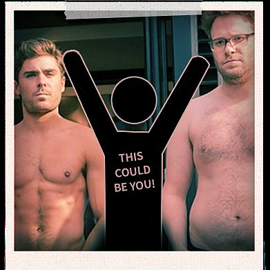 Zac Efron and Seth Rogen Shirtless Selfie For Neighbors 2